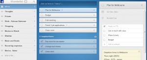 Screenshot of Wunderlist Webapp